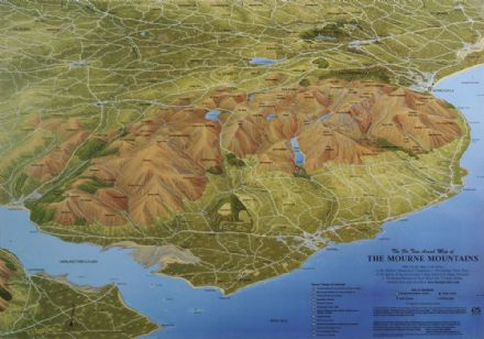 Aerial Map of The Mourne Mountains - Flat